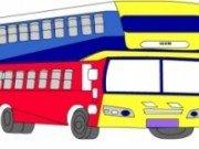 Planse de colorat cu autobuze