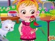 Baby Hazel si Animalul de companie Papagal