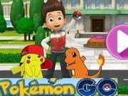 Patrula Catelusilor joaca Pokemon Go