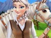 Elsa si pasiunea pentru cai