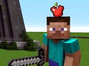Minecraft Trage in marul de pe capul lui Steve
