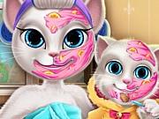 Pisica Angela și fiica ei la SPA