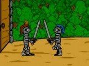 Lupte cu sabii si soldati in armuri