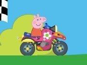 Peppa Pig cursa cu ATV