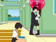 Saruturi pe furis la scoala
