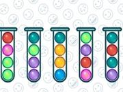 Sortarea bulelor colorate