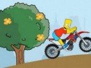 Simpson cu motocicleta