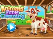 Curatenie la ferma de animale