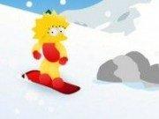 Snowboard cu Lisa Simpson
