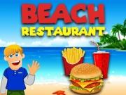 Serveste mancare Restaurantul de pe plaja