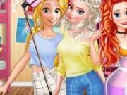 Ariel, Elsa și Rapunzel la scoala printeselor