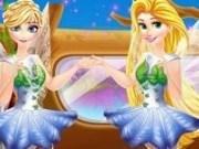 Elsa si Rapunzel in rochii de zane