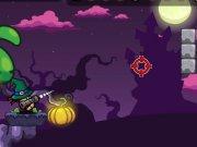 Trage in monstrii de Halloween cu o arma Bazooka