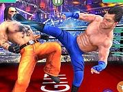 Bodybuilder Wrestling in ring