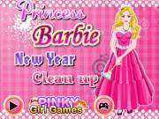 Printesa Barbie face curatenie de Anul nou