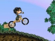 Cu bicicleta pe teren alunecos
