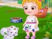 Bebelusa Hazel Ingrijeste catelul