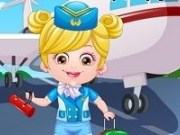 Baby Hazel stewardesa dress up