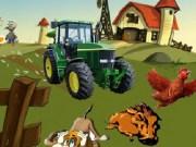 Concurs de sarit cu tractorul peste obtsacole