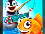 Pinguinul la pescuit