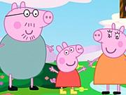 Purcelusa Peppa Pig joacă Dodgeball
