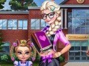 Elsa dress up de scoala