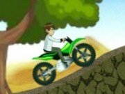 Ben10 cu motocicleta verde
