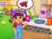 Dora in gradina
