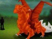 Coloreaza dragonul de foc