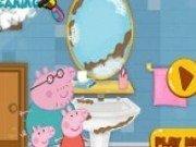 Peppa Pig: curatenie in baie