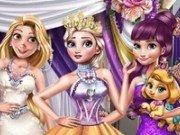 Elsa, Anna si Rapunzel Gala de iarna