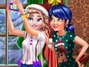 Selfie cu Elsa si Ladybug