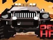 Condu monster truck in desert