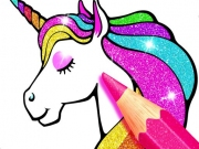 Carte de colorat Unicorn Glitter