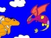Imagini cu Dragoni de colorat