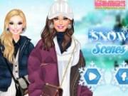 Imbraca modelul in haine de iarna