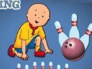 Caillou joaca Bowling