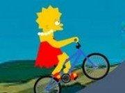 Lisa Simpson plimbare cu bicicleta
