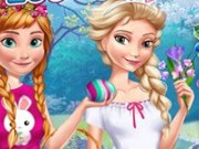 Anna și Elsa vacanta de Paște