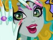 Mnichiura si machiaj pentru Lagoona Blue din Monster High