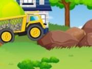 Condu camionul care transporta pietre