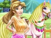 Printesa Belle si calul regal