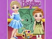Baby Elsa și Anna coloreaza