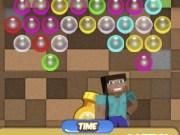 Bubble Shooter cu Steve din Minecraft