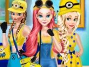 Rapunzel, Elsa si Ariel Moda Minionii