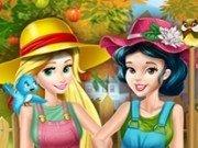 Alba ca Zapada si Rapunzel in gradina